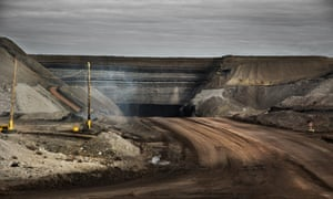 A coal mine in Wyoming in the US. Global warming caused by burning fossil fuel burning is due to speed up, according to a new study published in Nature Climate Change.