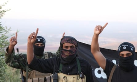 Isis soldiers on the front line