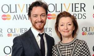 James McAvoy and Lesley Manville presented the  Olivier awards nominations on Monday.