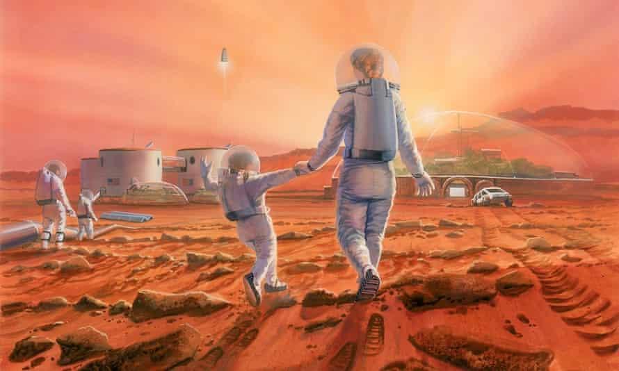 Impression of life on Mars