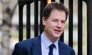 Lib Dem leader Nick Clegg, the deputy prime minister, said he had never heard of Liberal Reform.