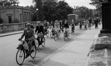 1950: In the university city of Oxford everybody cycles to work. Photograph: George Pickow/Getty Images