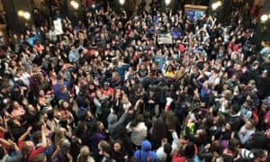 Student protest in Wisconsin