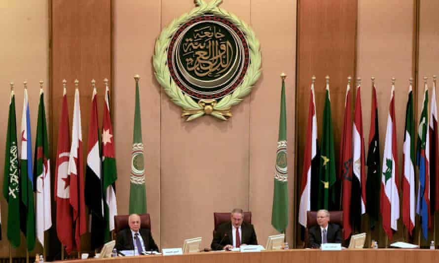 The Arab League foreign ministers' meeting in Cairo on Monday.