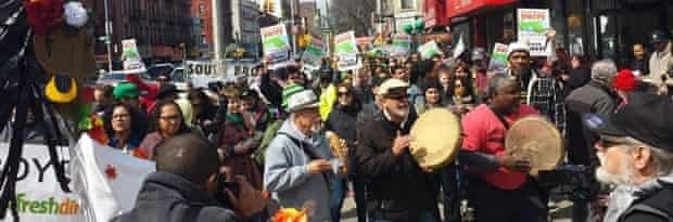 Bronx activists against Fresh Direct setting up shop in their neighbourhood.