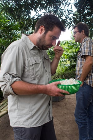 Simon Constantine from the cosmetics retailer Lush on a sourcing trip in Ghana.