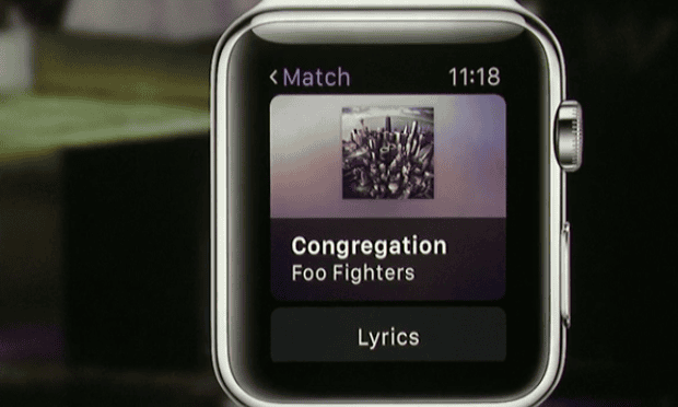 Foo Fighters on the Apple Watch.