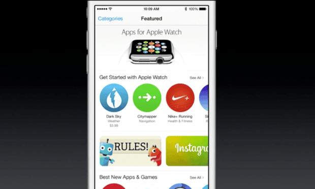 The Apple Watch app store.