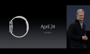 The Apple Watch launches 24 April.