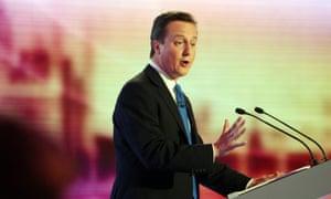 David Cameron in an election debate in 2010