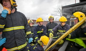 Greater Manchester Fire and Rescue service exercise with offenders