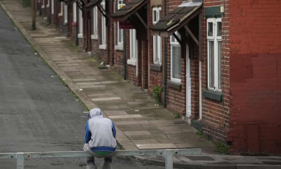 Street scene in Rotherham, England.