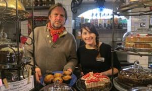 Jacha Potgieter (left) with café manager Natasha Evans.