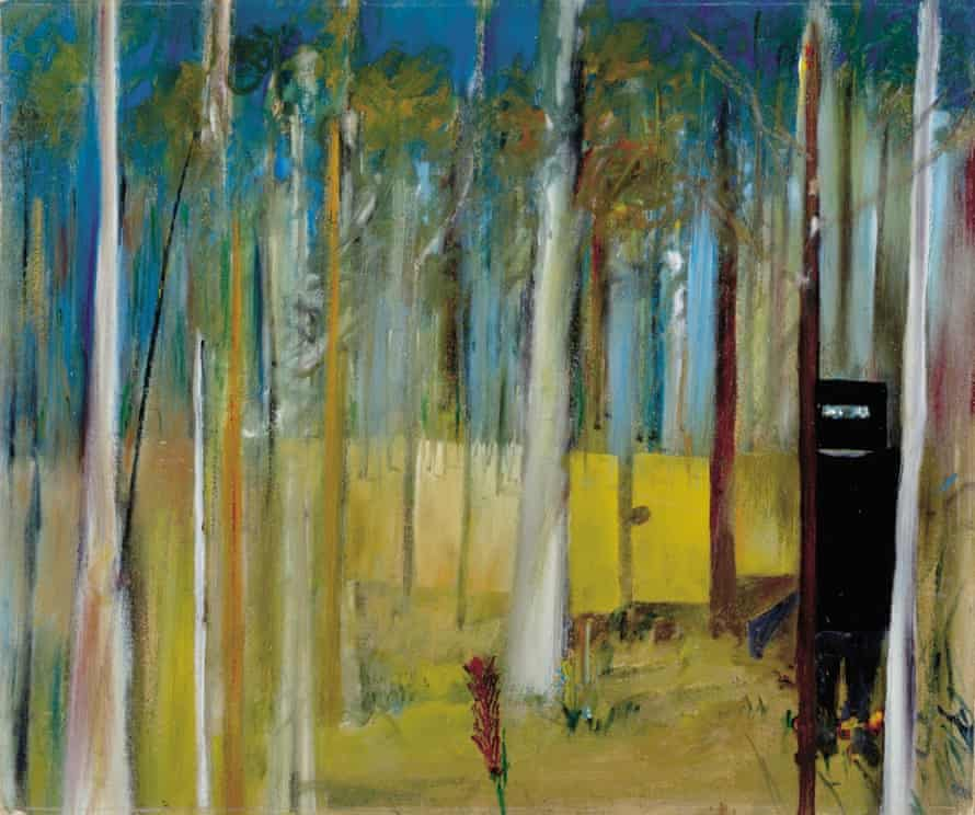 Ned Kelly in the Bush (1945) by Sidney Nolan.