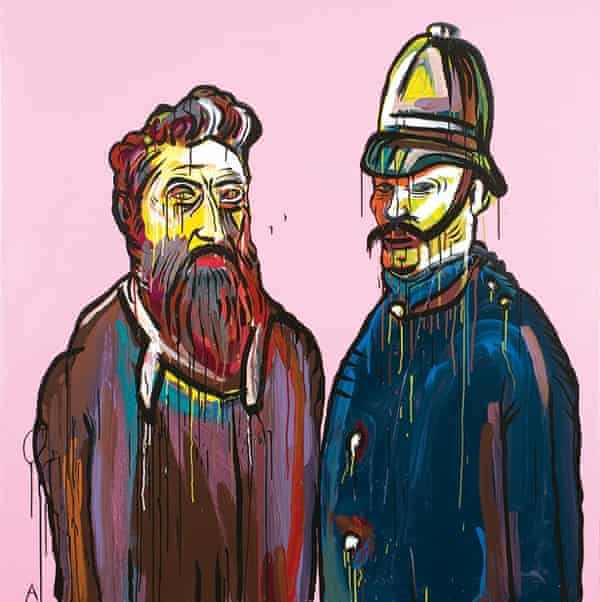 Adam Cullen painting of Ned Kelly
