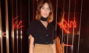 Alexa Chung and the suede skirt