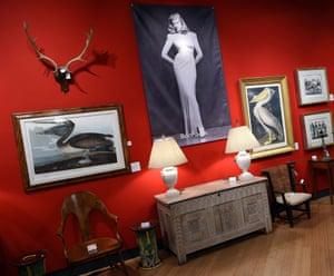 Lauren Bacall Collection bogart games table at Bonham's in New York.