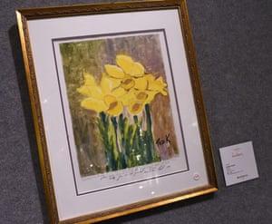 "A painting by Senator Edward Kennedy titled ""Daffodils"""