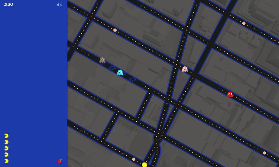 Google Pac-Man Times Square