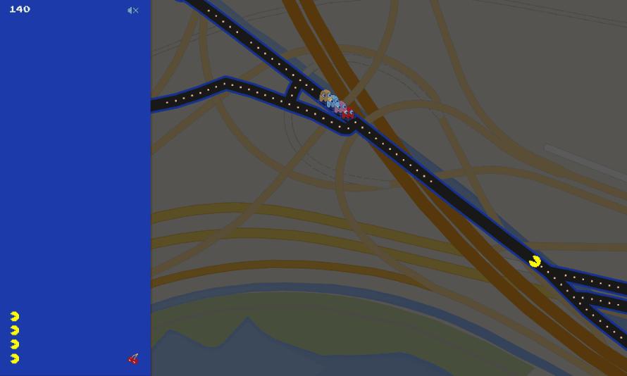 Google Pac-Man Spaghetti Junction