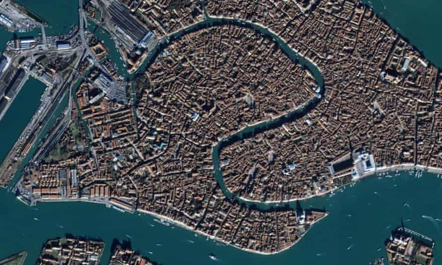 The streets and canals of Venice, Italy.