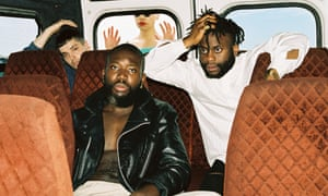Dads army: Young Fathers at the Red Bull studio in Cape Town, March 2015.