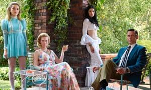 This could be the last time ... Sally Draper (Kiernan Shipka), Betty Francis (January Jones), Megan Draper (Jessica Pare) and Don Draper (Jon Hamm) .
