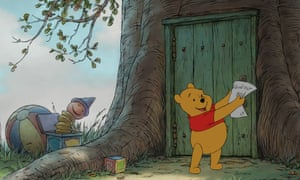 New writing ... a still from the animated film of Winnie-the-Pooh.