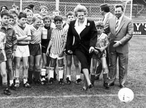 Margaret Thatcher football