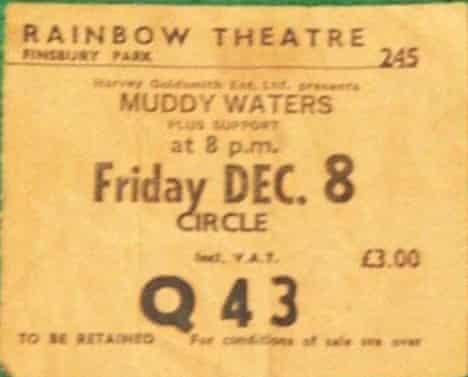 Muddy Waters ticket