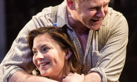 Jonathan Guy Lewis as Eddie Carbone and Daisy Boulton as his niece Catherine in Touring Consortium's A View from the Bridge.