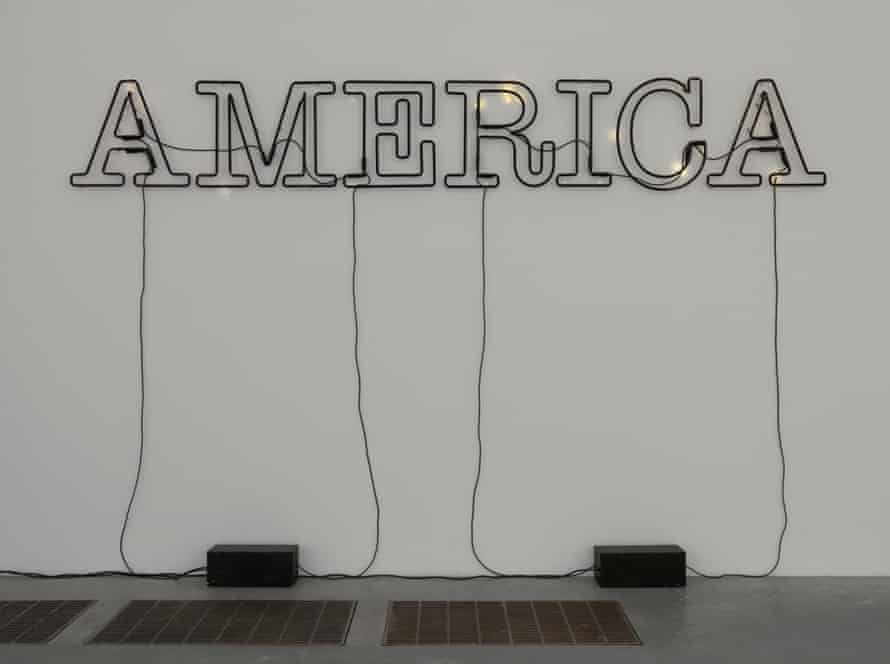 Untitled 2006 by Glenn Ligon, one of his neon series playing with the word America.