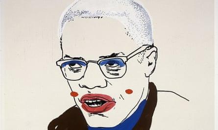 Glenn Ligon's Malcolm X