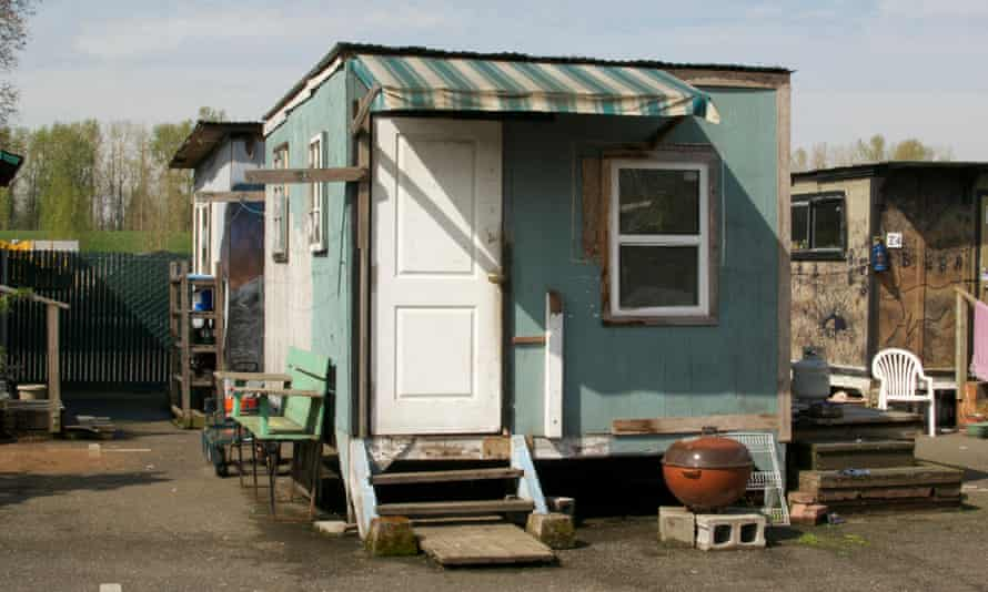 A tiny house in Dignity Village