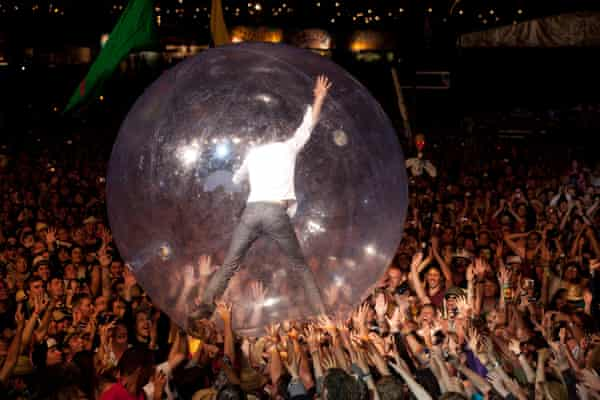 The Flaming Lips at Glastonbury in 2010.