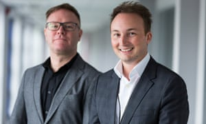 Chris Lord and David Newns, founders of Nerudia.