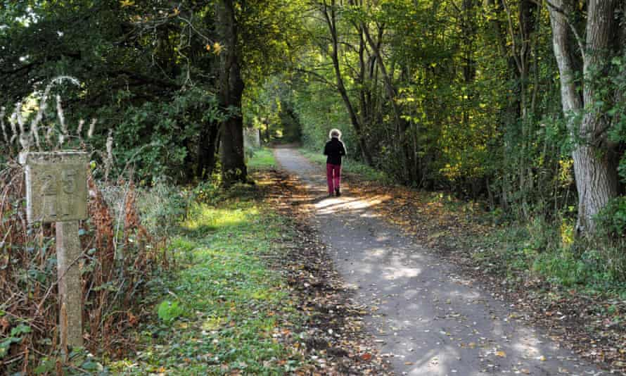 The Cuckoo Trail in the Wealden countryside, East Sussex.