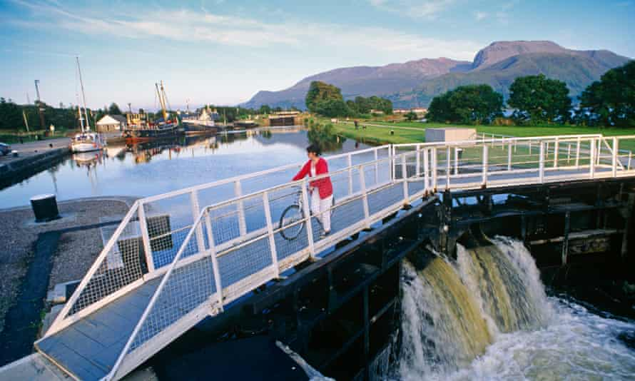 Neptune's Staircase, a series of locks on the Caladonian Canal, Corpach, Scotland.