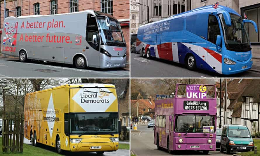The parties on the buses go round and round