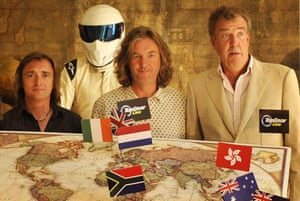Happier times … Richard Hammond, the Stig, James May and Jeremy Clarkson launch the Top Gear Live world tour in 2009.