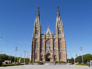 The Gothic Cathedral of La Plata, reminiscent of the famed cathedral in Cologne.