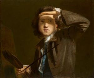 Sir Joshua Reynolds Self-portrait, circa 1749.