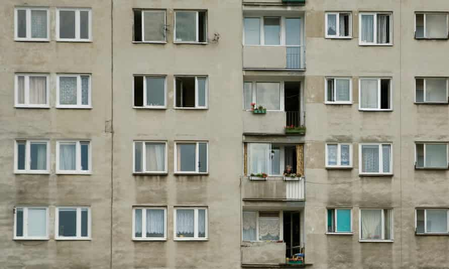 A housing block in Warsaw.