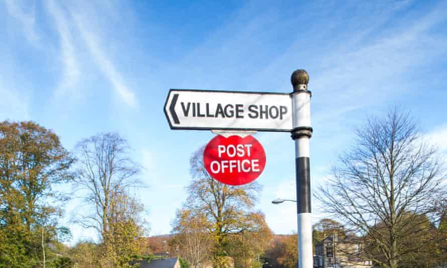 village shop sign