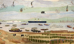John Craske's unfinished embroidery of the Dunkirk landings.