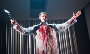 Matt Smith plays Patrick Bateman in the Almeida Theatre's adaptation of American Psycho.