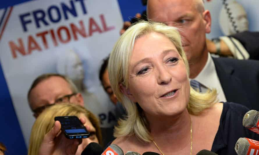 Marine Le Pen with Front National supporters
