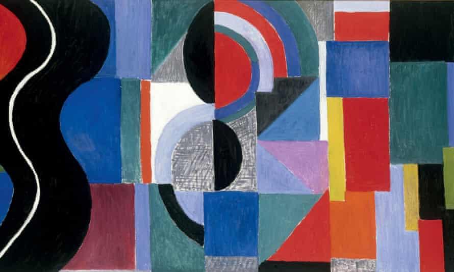 Syncopated rhythm, alias The Black Snake (detail), by Sonia Delaunay