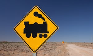 Train crossing sign … Beltana, South Australia.