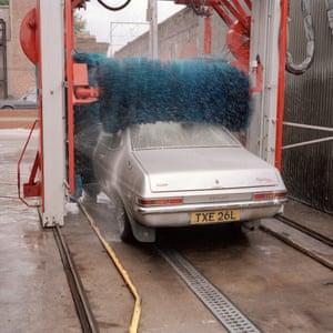 Vauxhall at a carwash